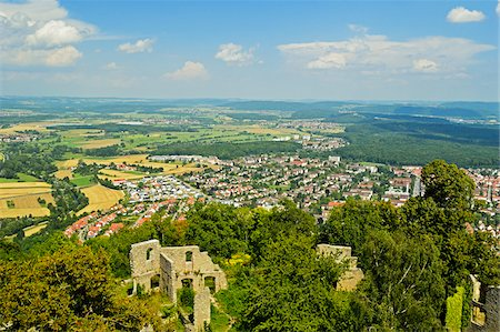 View of Singen and Hegau from Hohentwiel Castle, Hohentwiel, Singen, Baden-Wurttemberg, Germany Stock Photo - Rights-Managed, Code: 700-06368315