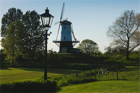 Windmill and Lamppost Stock Photo - Rights-Managed, Code: 700-06368355