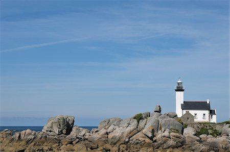 Lighthouse, Brignogan-Plage, Finistere, Bretagne, France Stock Photo - Rights-Managed, Code: 700-06383059