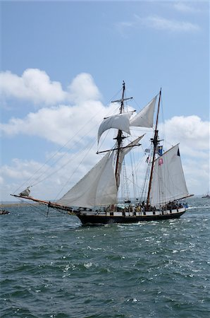 ships at sea - Tall Ship, Brest, Finistere, Bretagne, France Stock Photo - Rights-Managed, Code: 700-06383065