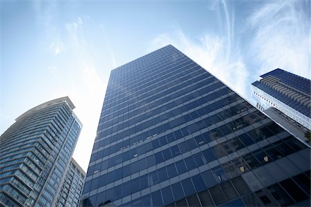 Low Angle View of Downtown Buildings, Vancouver, British Columbia, Canada Stock Photo - Rights-Managed, Code: 700-06383086