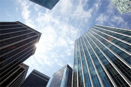 Low Angle View of Downtown Buildings, Vancouver, British Columbia, Canada Stock Photo - Rights-Managed, Code: 700-06383089