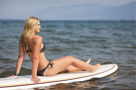 Surfer on Surfboard Stock Photo - Rights-Managed, Code: 700-06383767