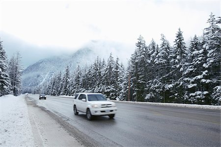 remote car - Cars on Highway in Manning Provincial Park, British Columbia, Canada Stock Photo - Rights-Managed, Code: 700-06383811