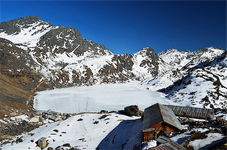Gosaikunda Lake, Langtang National Park, Bagmati, Madhyamanchal, Nepal Stock Photo - Rights-Managed, Code: 700-06383825