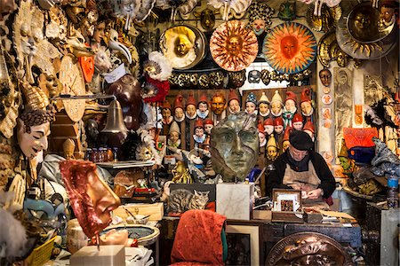 Mask Maker in Shop, Florence, Tuscany, Italy Stock Photo - Rights-Managed, Code: 700-06407782