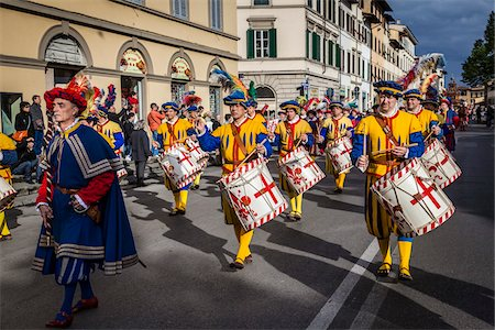 Marching Band, Scoppio del Carro, Explosion of the Cart Festival, Easter Sunday, Florence, Province of Florence, Tuscany, Italy Stock Photo - Rights-Managed, Code: 700-06407790