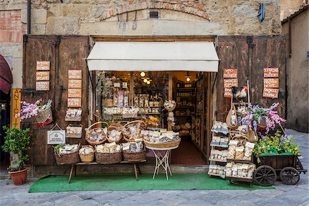 supermarket not people - Exterior of Shop, Arezzo, Province of Arezzo, Tuscany, Italy Stock Photo - Rights-Managed, Code: 700-06407800