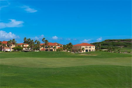 Golf Course and Homes, Aruba, Leeward Antilles, Lesser Antilles, Caribbean Stock Photo - Rights-Managed, Code: 700-06439055