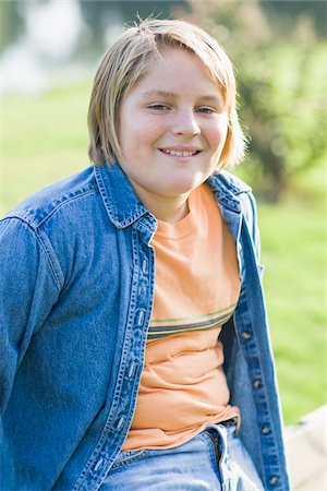 Portrait of Boy Outdoors Stock Photo - Rights-Managed, Code: 700-06439152