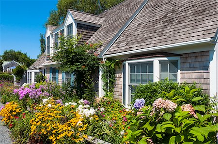 quaint house - House with Lush Flower Garden, Provincetown, Cape Cod, Massachusetts, USA Stock Photo - Rights-Managed, Code: 700-06431220