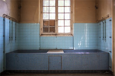 Therapeutic Baths in Abandoned Psychiatric Hospital Stock Photo - Rights-Managed, Code: 700-06452165
