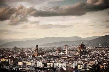 City Skyline, Florence, Tuscany, Italy Stock Photo - Rights-Managed, Code: 700-06465388