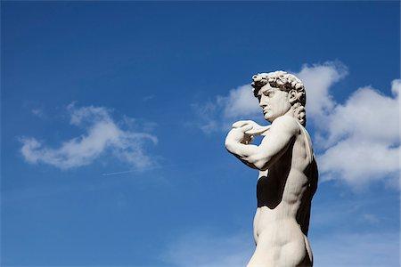 statue of david - Statue of Michelangelo's David, Piazza della Signoria, Florence, Tuscany, Italy Stock Photo - Rights-Managed, Code: 700-06465397