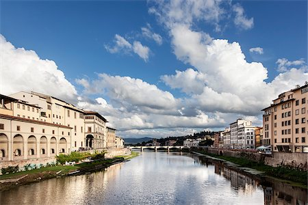 View of Arno River, Florence, Tuscany, Italy Stock Photo - Rights-Managed, Code: 700-06465391