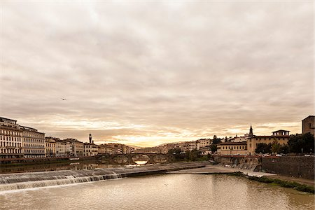 View of Arno River, Florence, Tuscany, Italy Stock Photo - Rights-Managed, Code: 700-06465392
