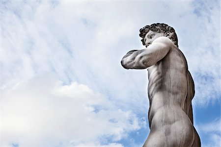 Statue of Michelangelo's David, Piazza della Signoria, Florence, Tuscany, Italy Stock Photo - Rights-Managed, Code: 700-06465400
