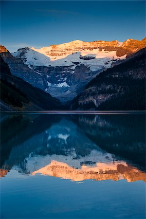 Lake Louise at Dawn, Banff National Park, Alberta, Canada Stock Photo - Rights-Managed, Code: 700-06465420