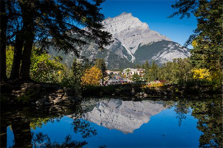 Cascade Mountain and Banff Avenue, Banff, Banff National Park, Alberta, Canada Stock Photo - Rights-Managed, Code: 700-06465452