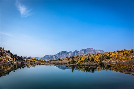 Rock Isle Lake in Autumn, Mount Assiniboine Provincial Park, British Columbia, Canada Stock Photo - Rights-Managed, Code: 700-06465476