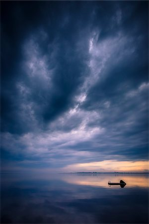 Floating Dock on Still Lake with Storm Clouds Overhead, King Bay, Point Au Fer, Champlain, New York State, USA Stock Photo - Rights-Managed, Code: 700-06465583