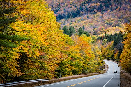 Car on Road Through White Mountain National Forest, White Mountains, New Hampshire, USA Stock Photo - Rights-Managed, Code: 700-06465675