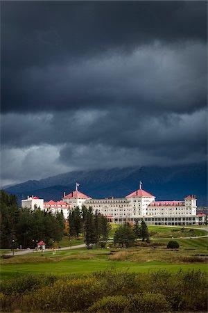 Mount Washington Hotel, Carroll, Coos County, New Hampshire, USA Stock Photo - Rights-Managed, Code: 700-06465692