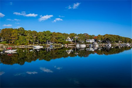 Riverfront Houses, Childs River, Falmouth, Cape Cod, Massachusetts, USA Stock Photo - Rights-Managed, Code: 700-06465798