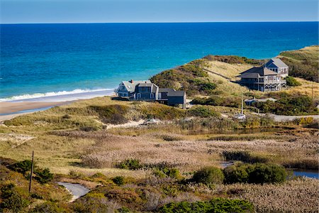 Overview of Beachfront Homes, Cape Cod, Massachusetts, USA Stock Photo - Rights-Managed, Code: 700-06465800