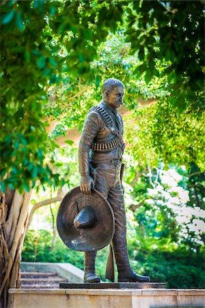 Statue of General Emiliano Zapata in Emiliano Zapata Park, Miramar District, Havana, Cuba Stock Photo - Rights-Managed, Code: 700-06465862