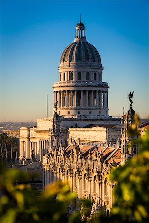 Elevated View of El Capitolio, Old Havana, Havana, Cuba Stock Photo - Rights-Managed, Code: 700-06465884