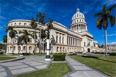 El Capitolio and Palm Trees, Old Havana, Havana, Cuba Stock Photo - Rights-Managed, Code: 700-06465885