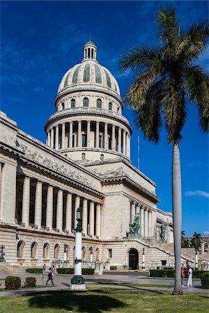 El Capitolio with Palm Tree, Old Havana, Havana, Cuba Stock Photo - Rights-Managed, Code: 700-06465886