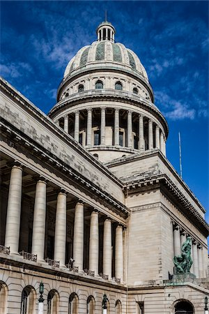 Low Angle View of El Capitolio, Old Havana, Havana, Cuba Stock Photo - Rights-Managed, Code: 700-06465887