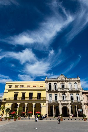 square - Restaurant and Buildings Lining Plaza Vieja, Havana, Cuba Stock Photo - Rights-Managed, Code: 700-06465913