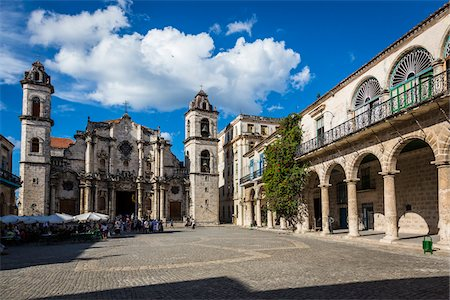 Cathedral of Havana, Plaza de la Catedral, Havana, Cuba Stock Photo - Rights-Managed, Code: 700-06465924