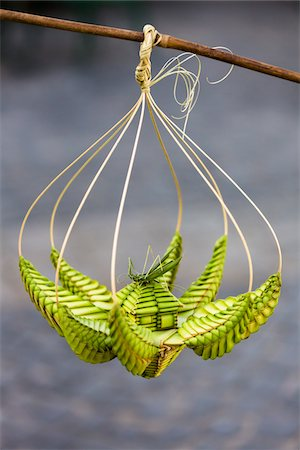 fragile - Close-Up of Palm Leaf Weaving Craft, Plaza de la Catedral, Havana, Cuba Stock Photo - Rights-Managed, Code: 700-06465923
