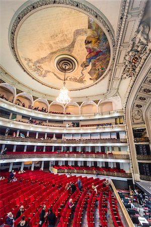 Interior of Garcia Lorca Auditorium in Gran Teatro de La Habana, Havana, Cuba Stock Photo - Rights-Managed, Code: 700-06465945