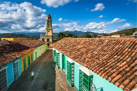Overview of Rooftops Looking Towards the Museo de la Lucha Contra Bandidos, Trinidad, Cuba Stock Photo - Rights-Managed, Code: 700-06465954