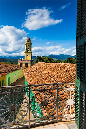 Looking Towards the Museo de la Lucha Contra Bandidos from Balcony, Trinidad, Cuba Stock Photo - Rights-Managed, Code: 700-06465953