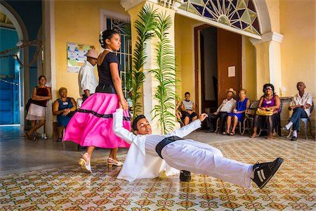 Young Dancers Performing at Club Amigos Social Dancing Event, Trinidad, Cuba Stock Photo - Rights-Managed, Code: 700-06465985
