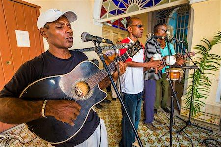 entertainment - Band Performing at Club Amigos Social Dancing Event, Trinidad, Cuba Stock Photo - Rights-Managed, Code: 700-06465987