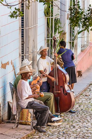 Street Musicians Performing Outdoors, Trinidad, Cuba Stock Photo - Rights-Managed, Code: 700-06465988