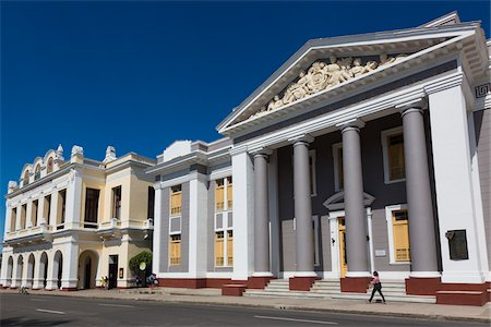Teatro Tomas Terry and Colegio San Lorenzo, Cienfuegos, Cuba Stock Photo - Rights-Managed, Code: 700-06465993