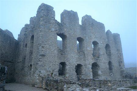 Ruins of Wolfstein Castle in Fog, Wolfstein, near Neumarkt in der Oberpfalz, Bavaria, Germany Stock Photo - Rights-Managed, Code: 700-06486498