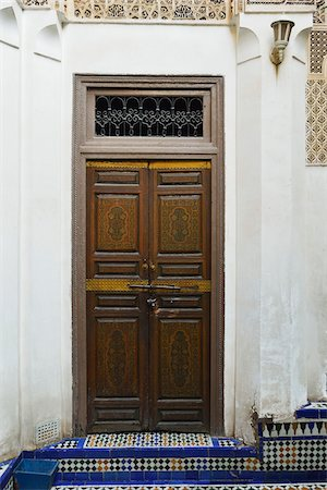 Decorative Wooden Door, Bahia Palace, Medina, Marrakesh, Morocco, Africa Stock Photo - Rights-Managed, Code: 700-06505748