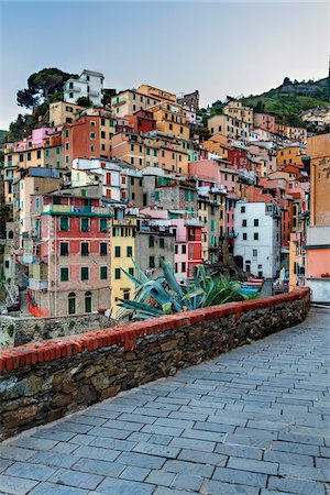 Clifftop village of Riomaggiore, Cinque Terre National Park, UNESCO World Heritage Site, Liguria, Italy Stock Photo - Rights-Managed, Code: 700-06512720