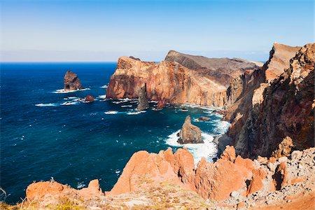 View of Coast at Ponta de Sao Lourenco, Madeira, Portugal Stock Photo - Rights-Managed, Code: 700-06531499