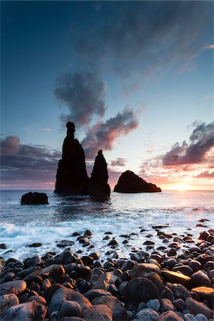 Rock formation on the Atlantic coast, Ribeira da Janela, Madeira, Portugal Stock Photo - Rights-Managed, Code: 700-06531505