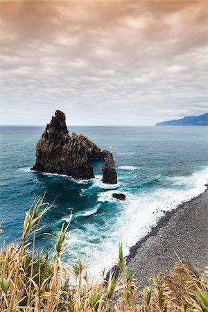 Rock formation on the Atlantic coast, Ribeira da Janela, Madeira, Portugal Stock Photo - Rights-Managed, Code: 700-06531510